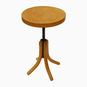 Wooden Adjustable Stool from Thonet, 1960s