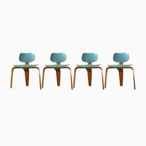 Vintage Tisch & Stühle von Egon Eiermann für Spieth Holztechnik, 5er Set