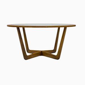 Mid-Century Teak Circular Coffee Table from Beithcraft