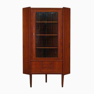 Mid-Century Danish Teak Veneered Corner Display Cabinet