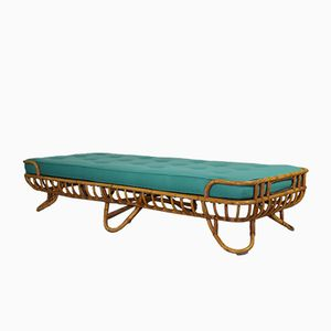 Rattan Daybed from Rohe Noordwolde, 1950s
