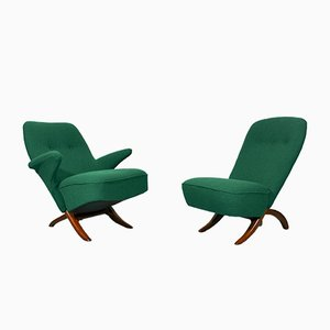 Mid-Century Penguin & Congo Lounge Chairs by Theo Ruth for Artifort, 1950s