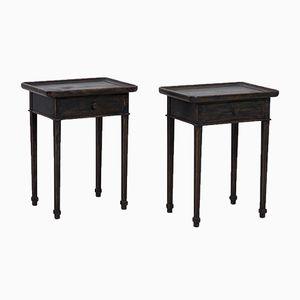 Antique Freestanding Side Tables, Set of 2