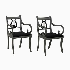 Antike Leier Stühle, 2er Set