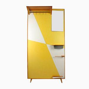 Vintage Yellow Geometric Coat Rack, 1966
