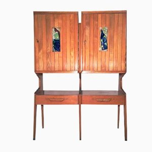 Cupboard with Decorative Tiles, 1950s