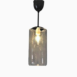 Mid-Century Glass Pendant Lamp from Høvik Lamps Norway