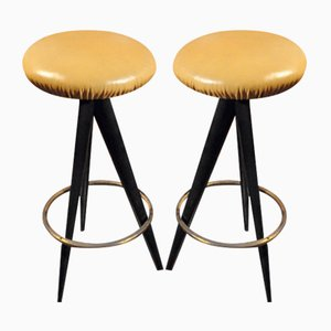 Bar Stools by Osvaldo Borsani for Atelier Borsani Varedo, 1950s, Set of 2