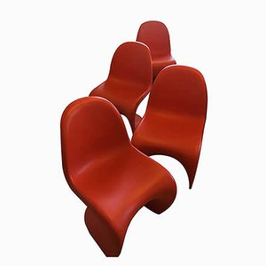 Vintage Panton Chairs by Verner Panton for Vitra, Set of 4