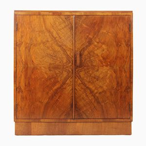 Vintage Art Deco Walnut Cabinet