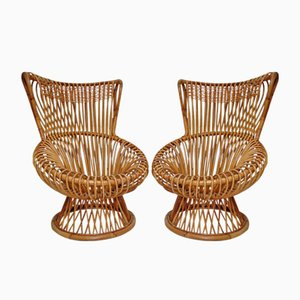 Margherita Easy Chairs by Franco Albini for Vittorio Bonacina, 1950s, Set of 2