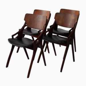 Dining Chairs by Arne Hovmand Olsen for Mogens Kold Furniture, 1950s, Set of 4