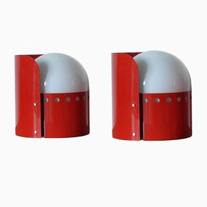 Dome Wall Lamps by Peter Hvidt & Orla Mølgaard-Nielsen for Fog & Mørup, 1970s, Set of 2