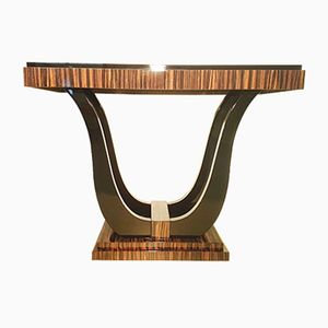 Art Deco Macassar Veneer Console Table
