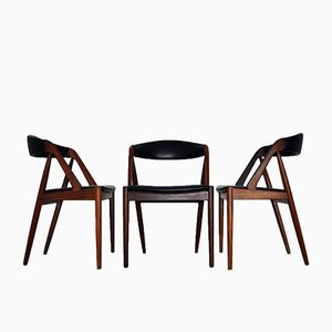 Model 31 Dining Chairs by Kai Kristiansen for Schou Andersen, Set of 3