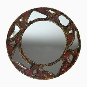 Round Faceted Mirror, 1960s