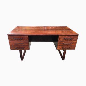 Danish Rosewood Veneer Desk by Henning Jensen and Thorben Valeur, 1960s