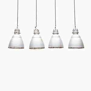 Vintage Ceiling Lamps by Carl Zeiss, Set of 4