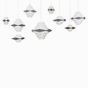 Ceiling Lamps by Preben Dahl for Hans Folsgaard, Set of 9