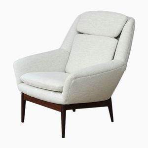 Mid-Century High Back Armchair by Ib Kofod-Larsen for Bovenkamp