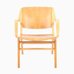 Mid-Century AX Lounge Chair by Hvidt & Mølgaard for Fritz Hansen