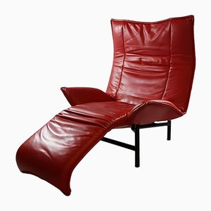 Vintage Veranda Leather Lounge Chair by Vico Magistretti for Cassina