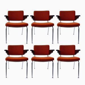 Chaises de Salon ou de Bureau par A.R. Cordemeijer pour Gispen, 1963, Set de 6