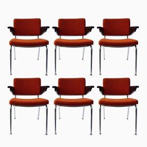 Esszimmer- oder Bürostühle von A.R. Cordemeijer für Gispen, 1963, 6er Set