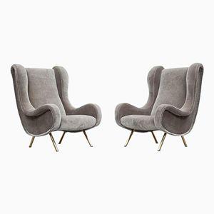 Vintage Sessel von Marco Zanuso für Arflex, 2er Set