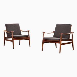 Vintage Sessel aus Teak von Finn Juhl für France & Søn, 2er Set