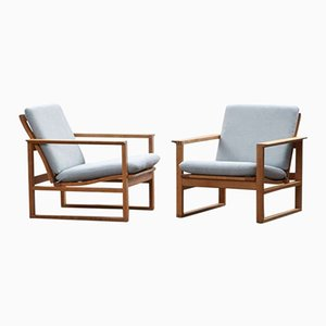 Lounge Chairs by Børge Mogensen for Fredericia, Set of 2