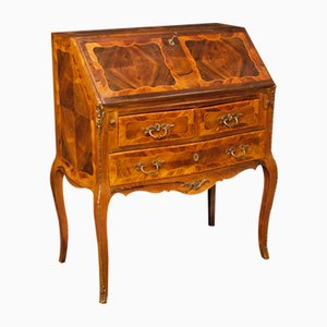 Mid-Century French Inlaid Bureau Decorated with Bronze