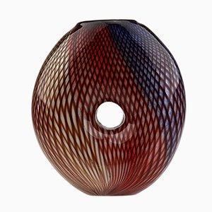 Vintage Multi-Colored Murano Glass Vase