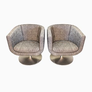 Swivel Armchairs by Jeffrey Bernett for B&B Italia, 1980s, Set of 2