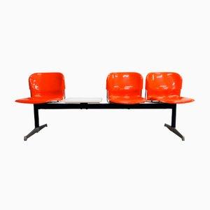 Deutsche Drei-Sitzer Swing Bank mit Tisch von Gerd Lange für Drabert, 1960er