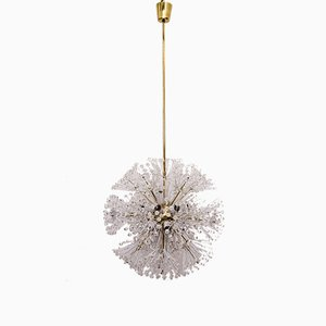 Large Vintage Brass & Glass Sputnik Chandelier by Emil Stejnar for Rupert Nikoll