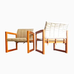 Vintage Safari Easy Chairs, Set of 2