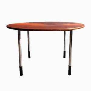 Table de Travail Vintage Ajustable Ronde en Teck