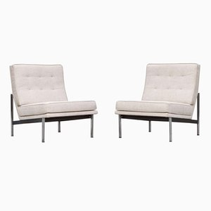 Vintage Parallel Lounge Chairs by Florence Knoll Bassett, Set of 2