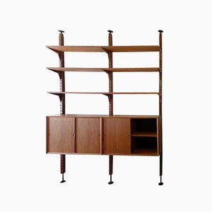 Vintage Teak Wall Unit by Poul Cadovius for Cado