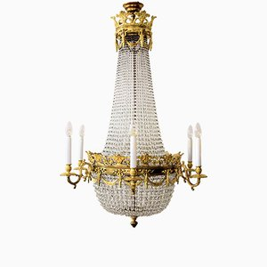 French 19th Century Gilded Bronze Chandelier