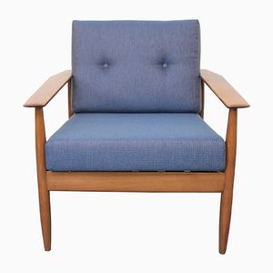 Armchair with Blue Upholstery, 1960s