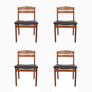 Danish Chairs in Teak from B & S, 1960s, Set of 4