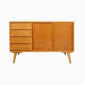 Eschenholz Sideboard mit Schiebetüren, 1950er