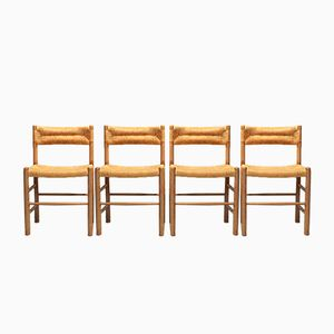 Vintage Dordogne Chairs by Charlotte Perriand for Sentou, Set of 4