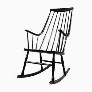 Scandinavian Grandessa Rocking Chair by Lena Larsson for Nesto, 1960s