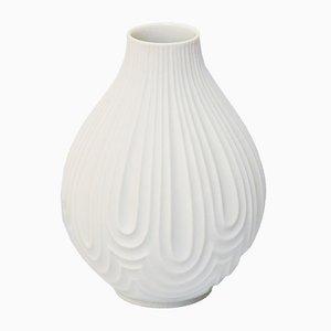 Weiße No. 1960 Mid-Century Bisque Op Art Relief Vase von H & Co. Heinrich, 1970er