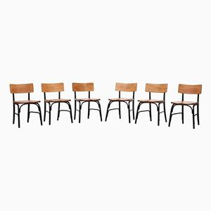 Vintage Side Chairs by Frits Schlegel for Fritz Hansen, Set of 6
