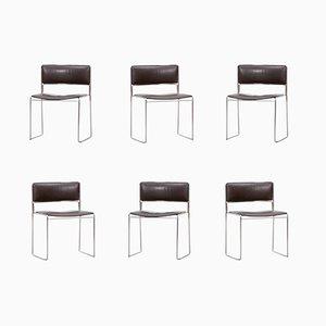Vintage Stacking Chairs by Preben Fabricius & Jørgen Kastholm for Kill International, Set of 6