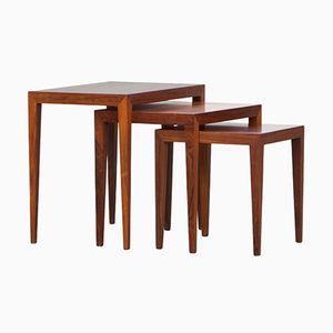 Vintage Nesting Tables by Severin Hansen for Haslev Mobelsnedkeri
